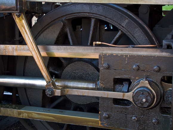 Steam Train Wheel and Rods